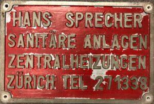 Werbetafel, Datum unbekannt (um 1950)